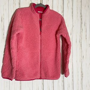 Columbia Full Zip Pink Fleece Sherpa Jacket
